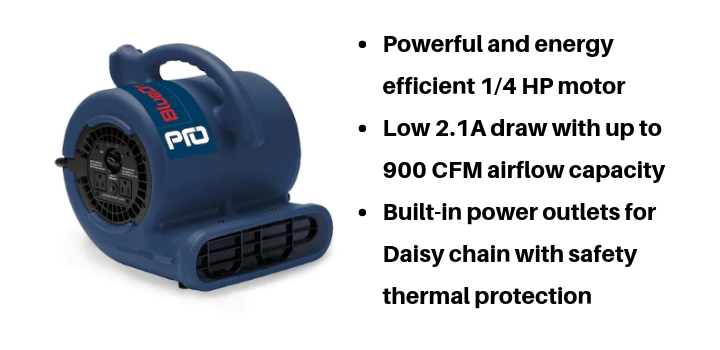 Blower air mover we bought from Lowe's