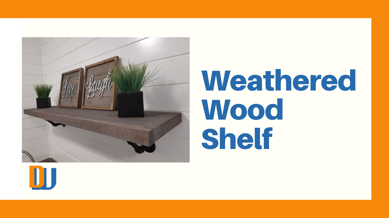 Weather Wood Shelf