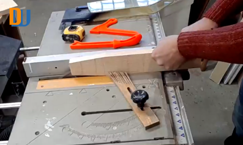 Re-Cutting wood for wine bottle carrier