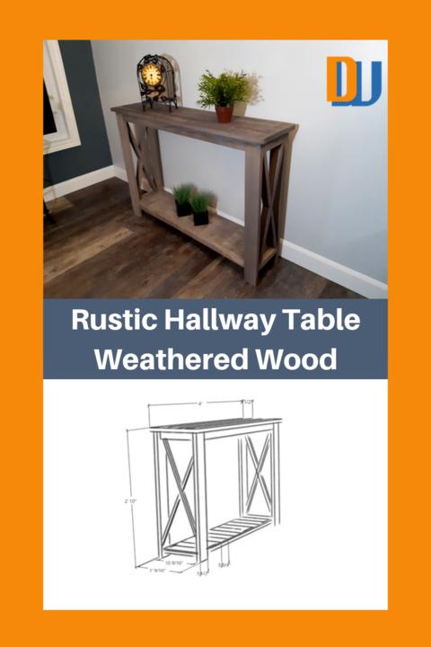 Rustic Hallway Table Weathered Wood Pinterest