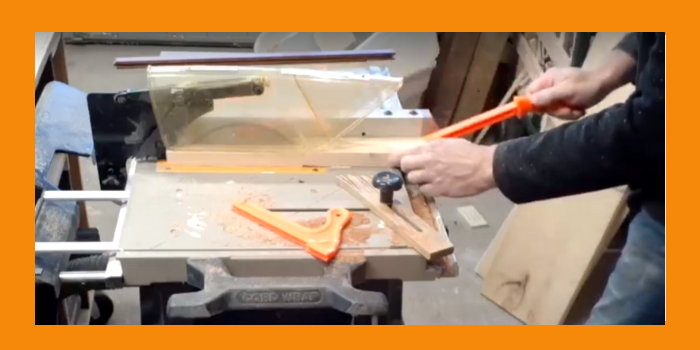 Cutting Wood for Candle Lantern