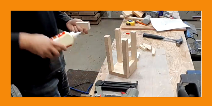 Glue up for the Candle Lantern