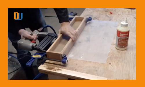 Wood box centerpiece assembly
