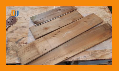 Wood box centerpiece raw materials