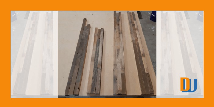 Approx assembly of wood for mirror frame