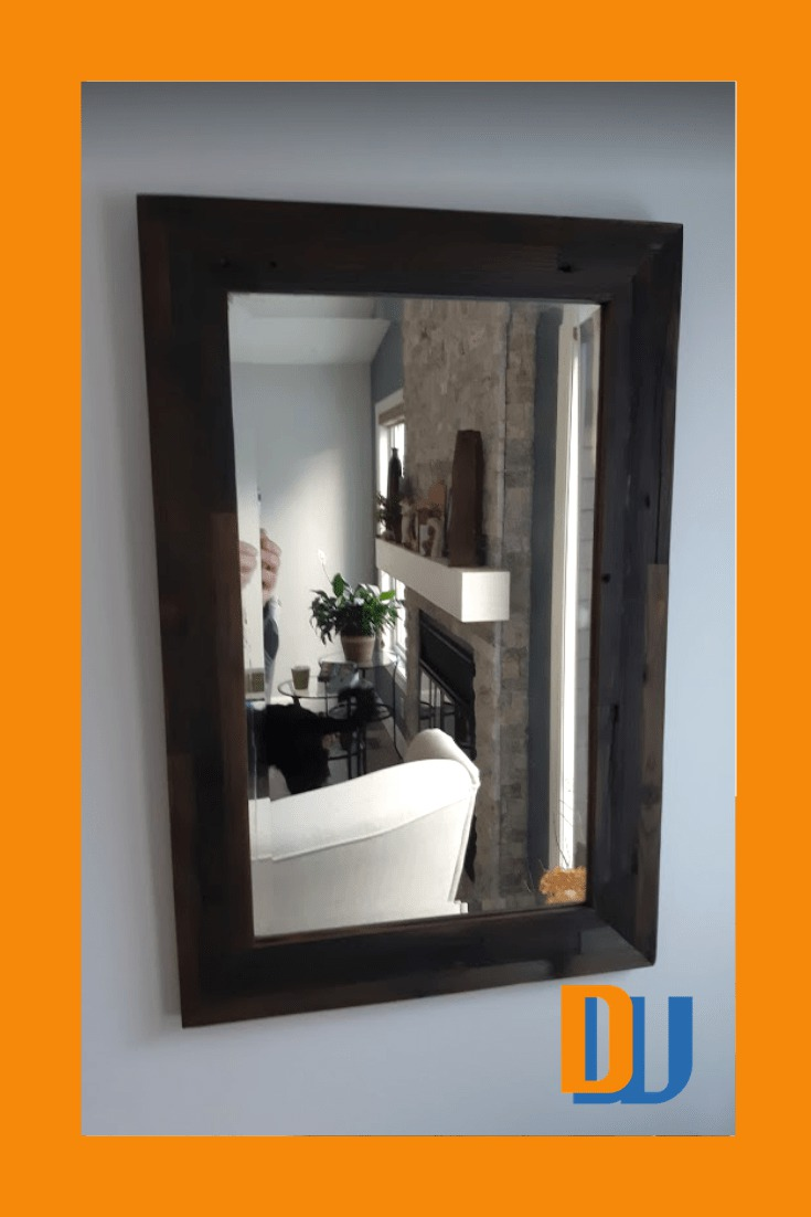 Completed mirror frame Horwood mirror