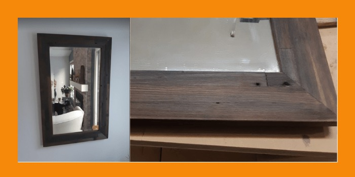 Completed mirror frame