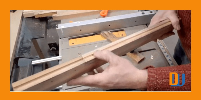 Groove in wood for mirror frame