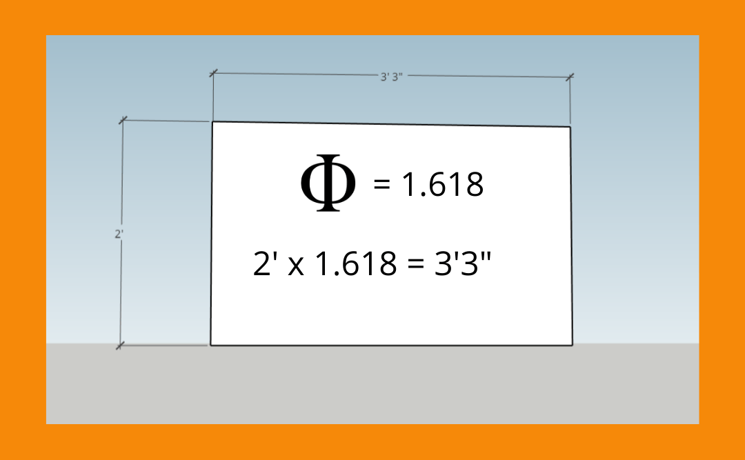 How we use the golden ratio in or designs