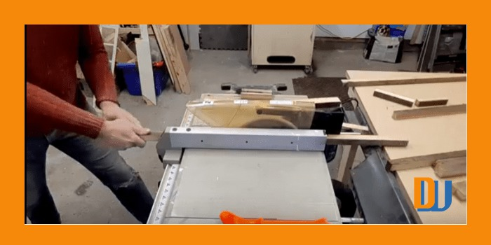 Ripping wood for mirror frame