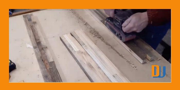 Sanding wood for mirror frame