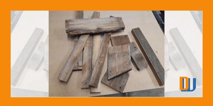 Scrap wood pile to make mirror frame
